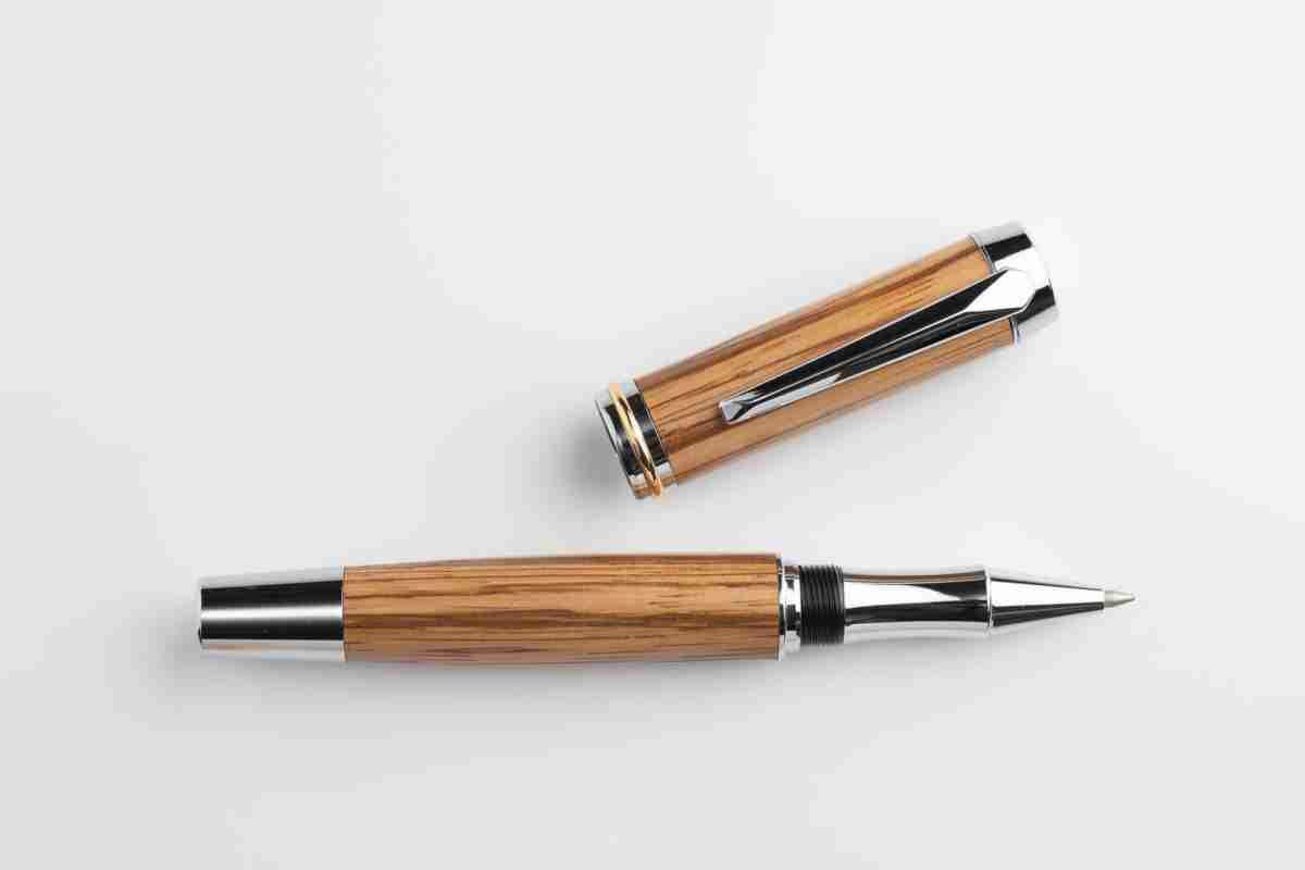 August Pens Dickens Zebra Wood